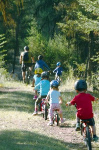 Junior Johnson Trail - kids on bikes