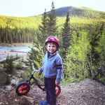 Nipika Mountain resort - proud kid with bike